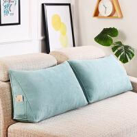 居家抱枕靠垫 客厅沙发靠背垫 三角靠垫腰枕可拆洗