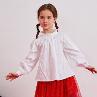 MHJ漫画家童装女童衬衫2020春新款印花时髦长袖衬衫儿童洋气内搭