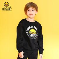 【4折价:115.6】B.duck小黄鸭童装儿童卫衣春秋季新款男女童套头纯棉上衣潮BF3008989
