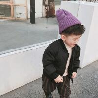 宝宝儿童棉衣男女童冬装2018新款夹克潮小童棉袄洋气轻薄外套