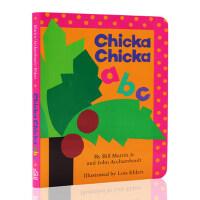 英文原版 Chicka Chicka ABC 名家推荐读物 纸板书 低幼儿童英语字母初级启蒙乐趣味读本 廖彩杏吴敏兰书