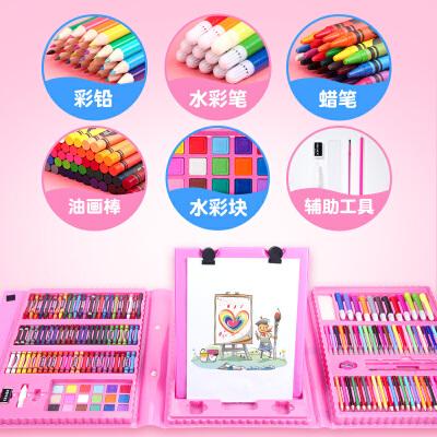 儿童水彩笔套装幼儿园宝宝无毒美术绘画工具可水洗画画笔套装礼盒