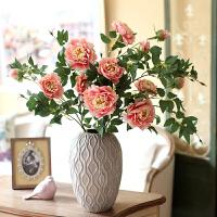 洛丽塔牡丹仿真花套装假花绢花 家居饰品摆件花艺摆件