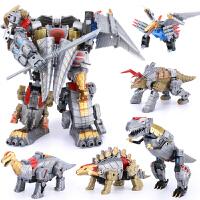 变形恐龙儿童玩具霸王龙大模型金刚5合体机器人套装男孩