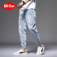 Lee Cooper港风工装牛仔裤新款男士束脚裤哈伦裤直筒裤子潮牛仔裤男