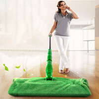 物有物语 平板拖布 懒人不锈钢拖把家用木地板免手洗吸水墩布多面旋转清洁干湿两用可替换