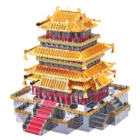 3d立体拼图建筑模型鹳雀楼拼装玩具手工DIY