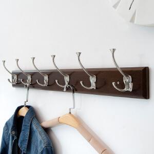【每满100-50】幽咸家居 创意门厅墙上双挂钩 衣帽门后木质挂钩 墙上衣帽架