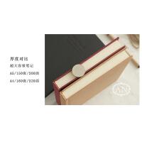 A5A4大学生加厚硬面抄笔记本子文具复古简约硬壳学习商务超厚用品