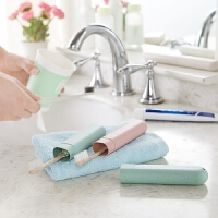 出差用品便携式洗漱牙刷套收纳 旅游牙刷盒保护套旅行户外