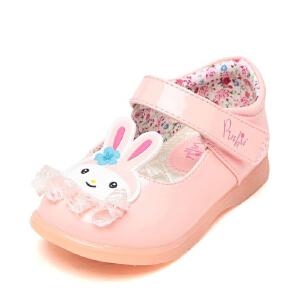 Pinkii/苹绮鞋柜春经典童鞋弹性透气耐磨女童鞋公主小皮鞋