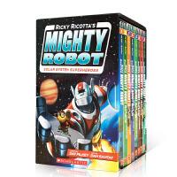 【全店300减100】英文原版【1-8册】 Ricky Ricotta's Mighty Robot 威猛机器人8本全套