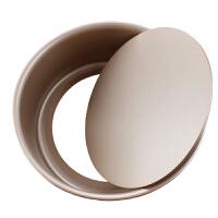 烘焙工具 薄款圆形金色碳钢活底不粘戚风蛋糕模 制作 蛋糕模具 易脱蛋糕模