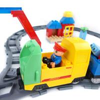 积木大颗粒积木塑料拼插轨道火车系列儿童拼装玩具