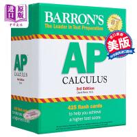 【中商原版】巴朗AP微积分备考卡片(第3版)英文原版 Barron's AP Calculus Flash Cards