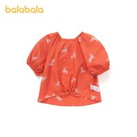 【3件5折价:55】巴拉巴拉女童衬衣儿童夏装小童宝宝衬衫童装纯棉时尚甜美