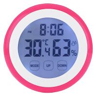 室内带多功能闹钟背光触屏夜光磁铁家用电子温度计湿度计温湿度计