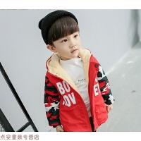 冬季男童宝宝冬装0123456789岁中小儿童迷彩加绒加厚棉衣棉袄外套秋冬新款
