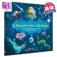 【中商原版】STEAM 大爆炸起源 It Started with a Big Bang 儿童百科宇宙太空知识绘本人类起
