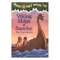 【现货】英文原版儿童书 Viking Ships at Sunrise 神奇树屋15:维京海盗 新旧版本随 机发!