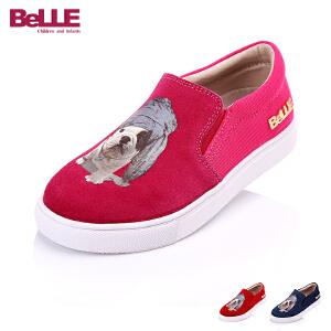 【159元2双】Belle/百丽童鞋秋冬季儿童休闲旅游鞋狗狗鞋面卡通女童鞋  DE0187
