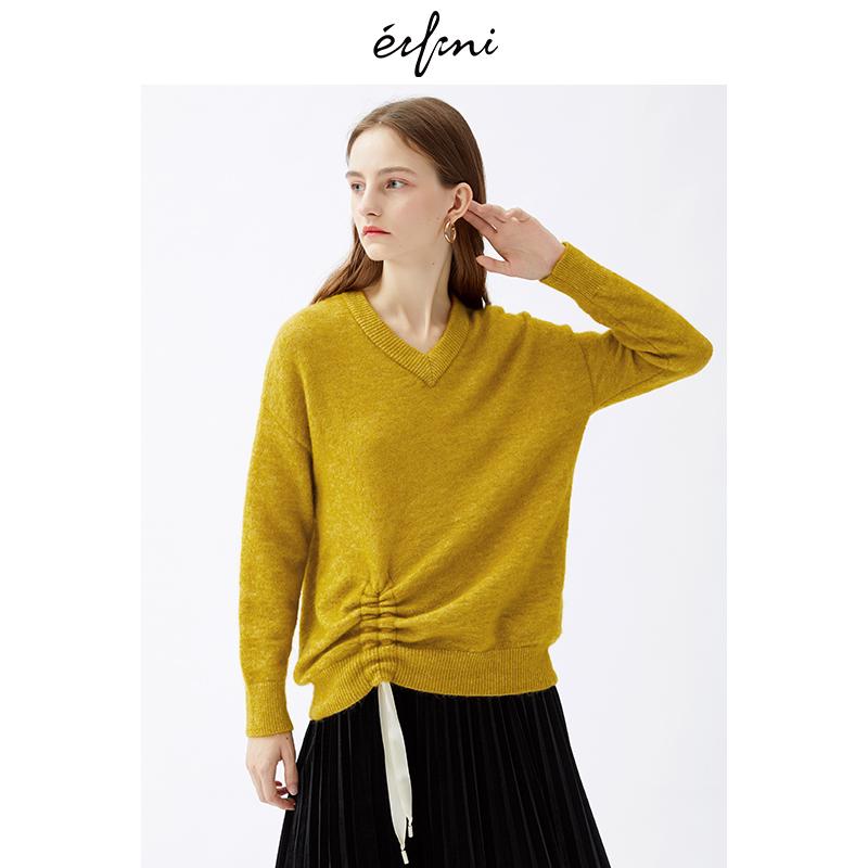 2件4折 伊芙丽2018冬装新款韩版时尚女装毛针织衫1187933731