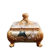 古典收纳首饰盒摆件 创意时尚家居梳妆台样板房实用饰品盒