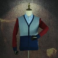 剪标男装 冬款加绒加厚衬衫领假两件时尚青年百搭修身保暖打底衫