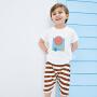 【2件3.8折】迷你巴拉巴拉童装儿童两件套2019夏季新款休闲套装条纹套装男童夏
