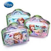 包邮迪士尼公主可爱苏菲亚笔袋女生文具盒小学生手提铅笔袋收纳包