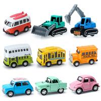 儿童玩具车合金回力车消防车挖掘机工程车套装
