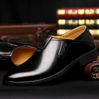 DAZED CONFUSED男鞋2017秋季新款商务正装皮鞋青年透气英伦风套脚一脚蹬懒人鞋
