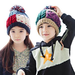 KK树纯手工儿童帽子秋冬男童女童帽子保暖宝宝针织毛线帽冬潮