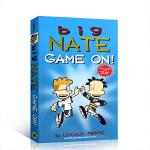 英文原版绘本 Big Nate系列漫画 GAME ON ! 游戏吧 小学生课外英语读物 释放学习压力轻松阅读故事卡通漫