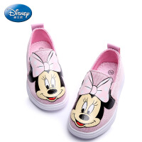 迪士尼童鞋2017年女童旅游鞋儿童滑板鞋米妮帆布鞋 DS2214