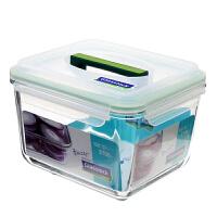 进口Glasslock三光云彩钢化玻璃保鲜盒3700ml泡菜手提式盒子RP604