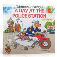 【全店300减110】英文原版 警察局的一天:Richard Scarry's A Day at the Police