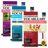 【全店300减100】进口英文原版1-3年级练习册SAP Learning Vocabulary Workbook 1-