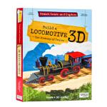 【正版直发】英文原版Travel Learn And Explore Lootive 3D火车头模型书 English