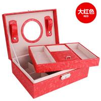 首饰盒带锁 欧式公主韩国手饰品首饰收纳盒 简约耳环耳钉首饰盒子SN6556