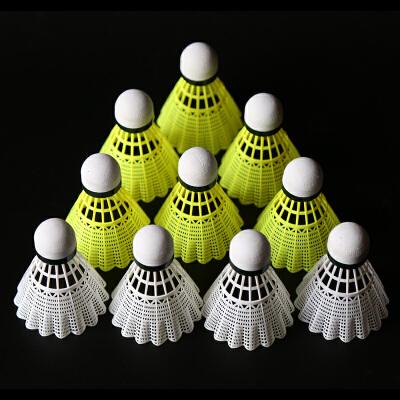 羽毛球尼龙球耐打王桶装羽毛球6只塑料羽毛球打不烂12只装耐打