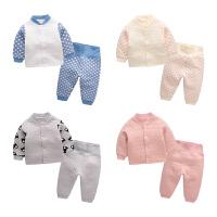 宝宝套装冬季 新生儿两件套衣服小童纯棉保暖睡衣 婴儿家居服冬装
