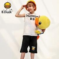 【4折价:107.6】B.duck小黄鸭童装男童短裤夏新款儿童宽松胯裆五分裤潮BF2052906