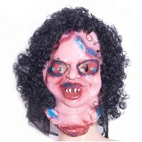 20180602161802751万圣节化妆舞会面具骷髅恐怖鬼脸面具恐怖鬼面具整人恐怖乳胶头套