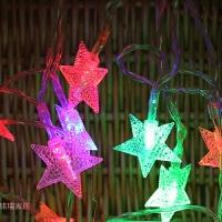 圣诞装饰品彩灯圣诞树星星灯串节庆橱窗亮化装饰灯酒店橱窗节日灯 5米28头星星灯串