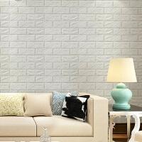 3d立体墙贴客厅卧室砖纹壁纸背景墙防水自粘墙纸
