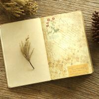 复古笔记本子日记本创意欧式彩页插画记事本手绘学生文艺厚手账本