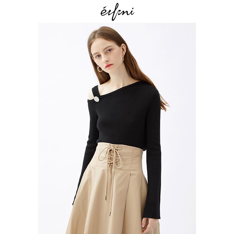 2件4折 伊芙丽2018冬装新款韩版时尚女装毛针织衫1187939361