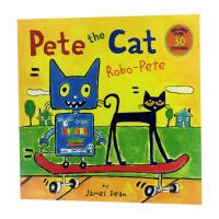 英文原版 Pete the Cat 皮特猫: Robo-Pete 平装绘本 4-6-8岁宝宝学习英语入门启蒙 正版图书