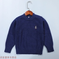 冬季秋冬男童毛衣加厚套头儿童羊绒衫中大童新款圆领羊毛针织打底衫秋冬新款